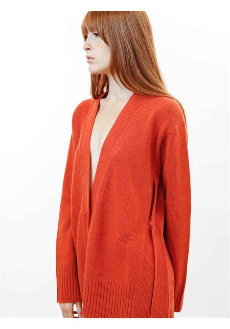 Women's Clothing Maxi Cardigan in Rusty Cashmere with Matching Buttons Maliparmi | Knitwear | JN35797431531038