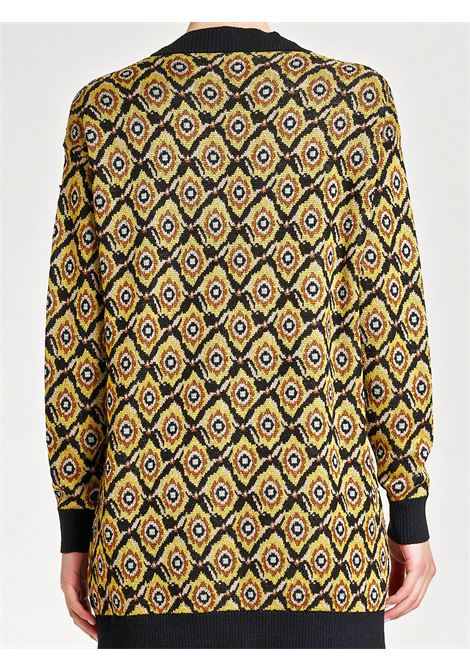Women's Clothing Cardigan Alchimia in Jacquard of Viscose and Lurex Patch and Button Mix Maliparmi | Knitwear | JN358378071B2028