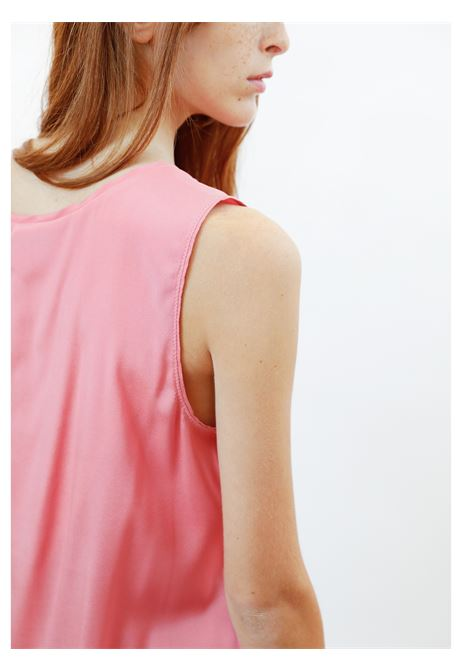 Women's Clothing Silk Satin Top in Pink Pure Silk Maliparmi | Shirts and tops | JP50793102031024