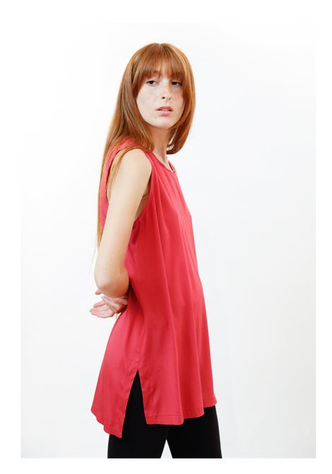 Abbigliamento Donna Top Silk Satin in Pura Seta Geranio Maliparmi | Camicie e Top | JP50793102034007