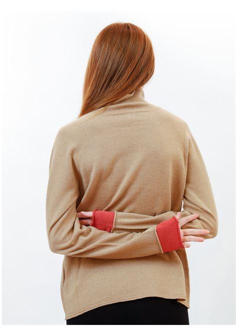 Abbigliamento Donna Maglia Dolcevita Wool & Cachemire in Biscotto e Ruggine Maliparmi | Maglieria | JQ48777425712071