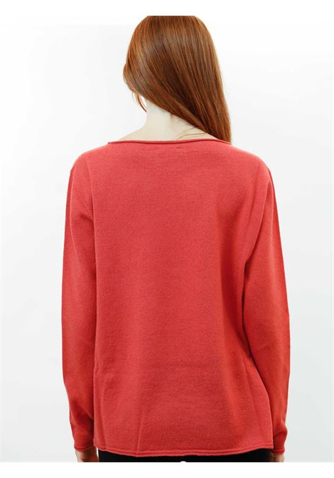Abbigliamento Donna Maglia Wool & Cachemire Ruggine con Scollo Largo Maliparmi | Maglieria | JQ48787425731038