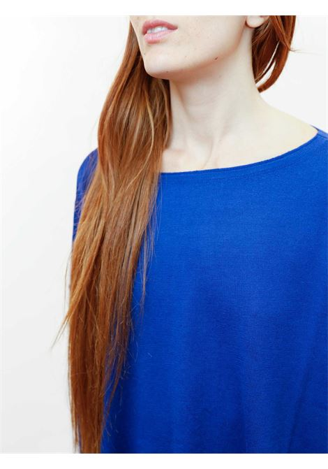 Women's Clothing Sweater Colours The World in Cobalt Wool with Crew-neck Maliparmi | Knitwear | JQ48917423080059