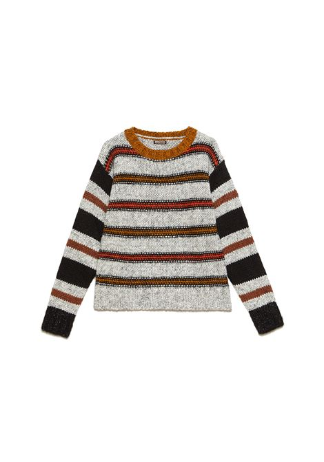 Women's Clothing Sweater Mouline & Lurex Boxy Round Neck Knit With Mix of Coloured Stripes and Lurex Maliparmi | Knitwear | JQ48947051521B99