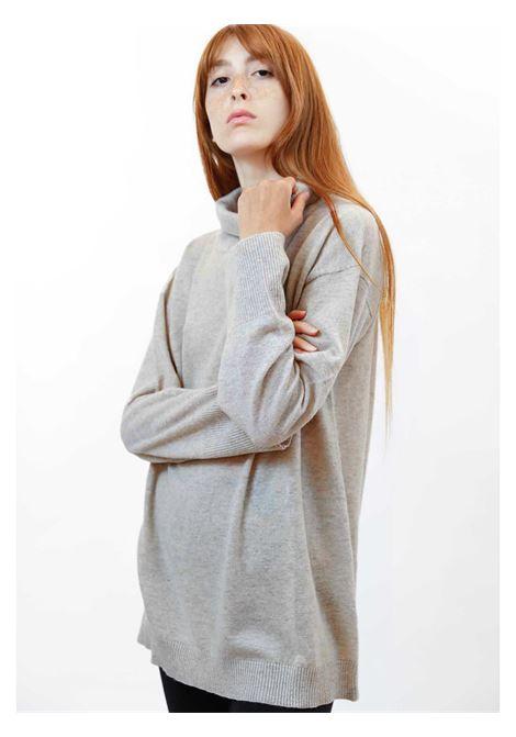 Abbigiamento Donna Maglia Soft Cachemire in Avorio e Luerx Collo Alto Maliparmi | Maglieria | JQ49027052310003