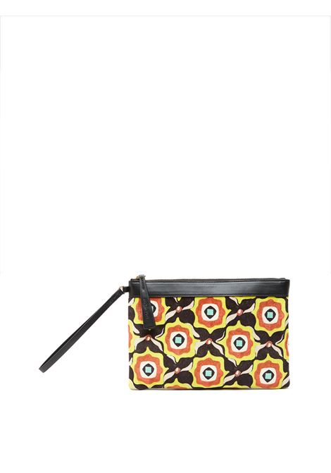 Women's Accessories Punch Printed Velvet in Black with Wrist Ring Maliparmi | Bags and backpacks | OP008661032B2028