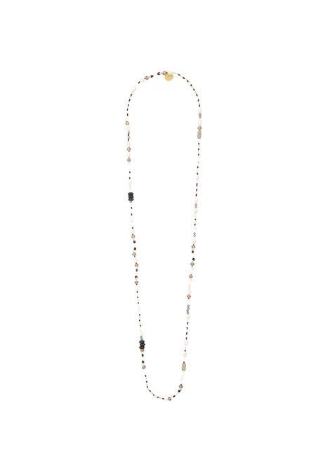 Accessori Donna Collana Long Mix Beads con Mix di Perline Colorate Ricamate a Mano Maliparmi | Collane | TC04489080610B99