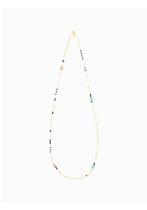 Accessori Donna Collana Long Mix Beads con Mix di Perline Colorate Ricamate a Mano Maliparmi | Collane | TC04489080680B99