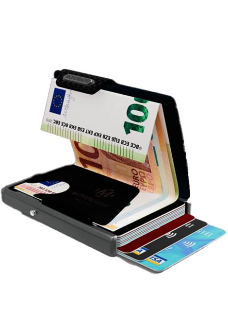 Men's Accessories Wallet Compact and Pocket Size in Ultra Lightweight Shell and Black Leather with Carbon Finish Mondraghi | Wallets | CARBON00100