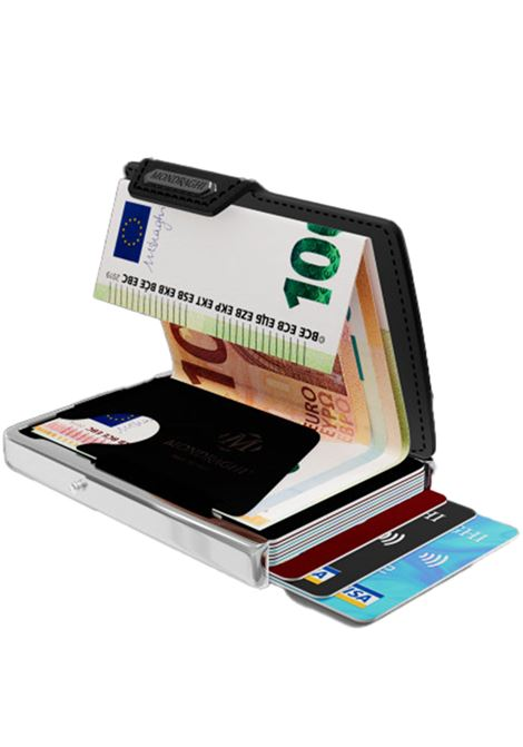 Men's Accessories Wallet Compact and Pocket Size in Ultra Lightweight Shell and Black Leather Mondraghi | Wallets | ELEGANCE70200