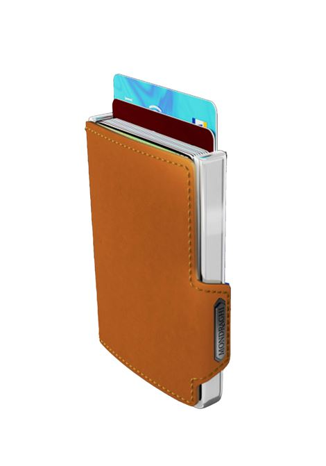 Men's Accessories Wallet Compact and Pocket Size in Ultra Lightweight Shell and Camel Leather Mondraghi | Wallets | ELEGANCE70600