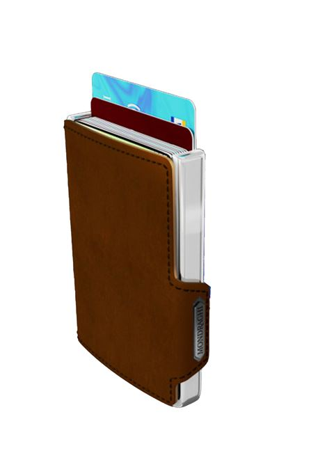 Men's Accessories Wallet Compact and Pocket Size in Ultra Lightweight Shell and Dark Brown Leather Mondraghi | Wallets | ELEGANCE70800