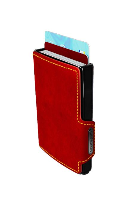 Men's Accessories Wallet Compact and Pocket Size in Ultra Lightweight Shell and Red Leather and Yellow Seam Mondraghi | Wallets | RACING8100