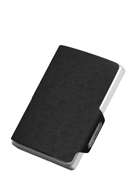 Men's Accessories Wallet Compact and Pocket Size in Ultra Lightweight Shell and Black Saffiano Leather Mondraghi | Wallets | SAFFIANO30100