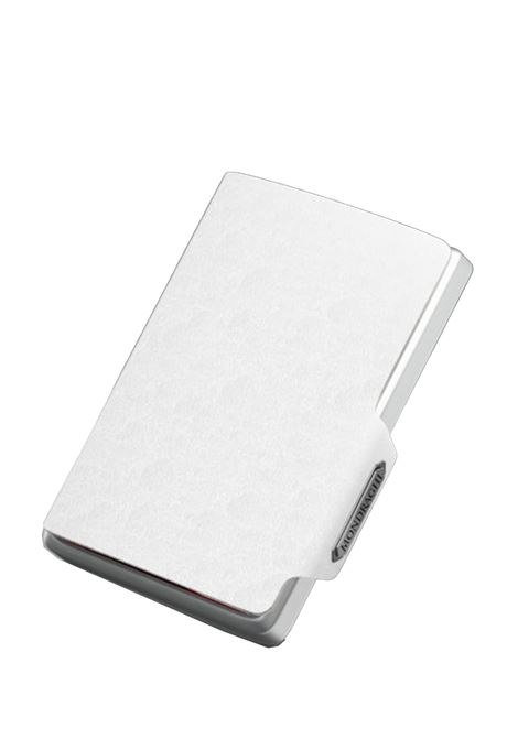 Men's Accessories Wallet Compact and Pocket Size in Ultra Lightweight Shell and White Saffiano Leather Mondraghi | Wallets | SAFFIANO31500