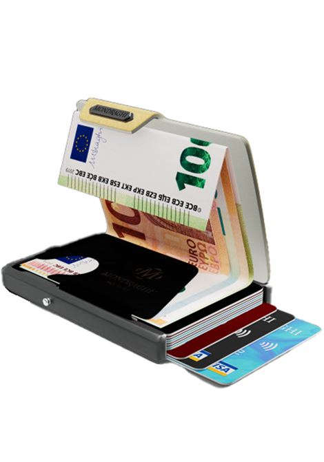 Men's Accessories Wallet Compact and Pocket Size in Ultra Lightweight Shell and Gold Saffiano Leather Mondraghi | Wallets | SAFFIANO31900