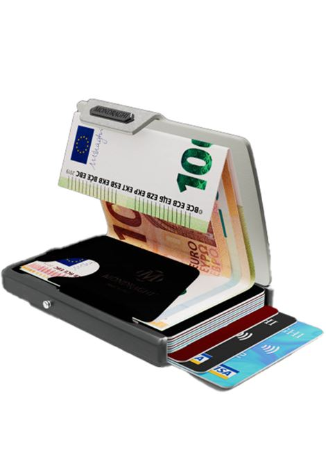 Men's Accessories Wallet Compact and Pocket Size in Ultra Lightweight Shell and Silver Saffiano Leather Mondraghi | Wallets | SAFFIANO32100