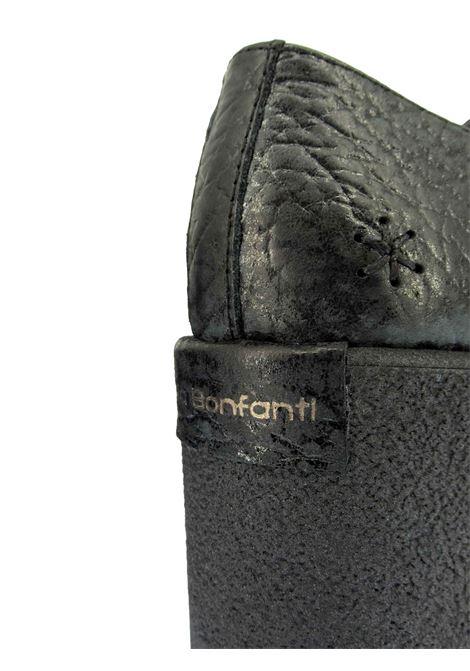 Calzature Donna Mocassini in Pelle Martellata Nera con Fondo Alto Effetto Para Tono su Tono Patrizia Bonfanti | Mocassini | JINGU001