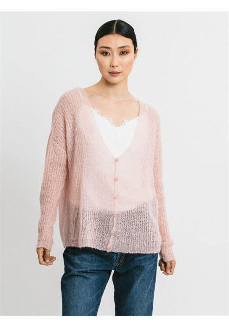 Abbigliamento Donna Cardigan in Mohair Rosa con Bottoncini in Tinta e Scollo a V Pink Memories | Maglieria | 1114529