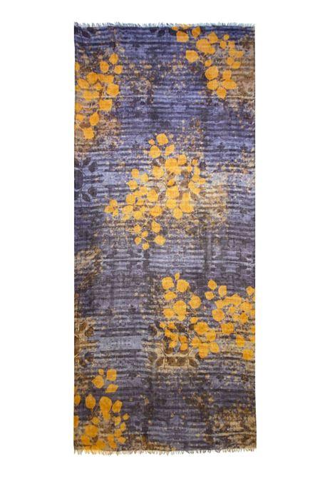 Accessori Donna Sciarpa in Lana Ricamata Viola Multicolore a Fantasia Pyaar | Sciarpe e foulard | DIANA0035