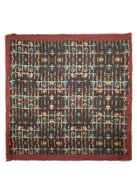 Accessori Donna Sciarpa Quadrata in Modal Ricamata Bronzo a Fantasia Pyaar | Sciarpe e foulard | DOROTHY0011