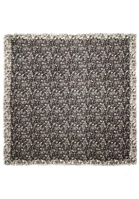 Accessori Donna Sciarpa Quadrata in Modal Ricamata Grigia a Fantasia Pyaar | Sciarpe e foulard | EVA0012