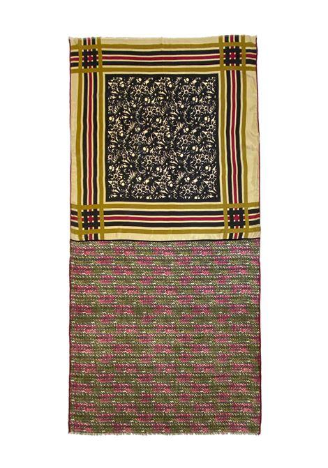 Accessori Donna Sciarpa in Misto Seta Ricamata Oro Multicolore a Fantasia Pyaar | Sciarpe e foulard | KELLY0010