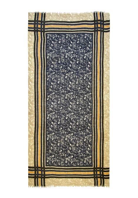 Accessori Donna Sciarpa in Lana Ricamata Beige Multicolore a Fantasia Pyaar | Sciarpe e foulard | LUIGIA0035