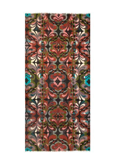Accessori Donna Sciarpa in Lana Ricamata Rubino Multicolore a Fantasia Pyaar | Sciarpe e foulard | MARGO0029