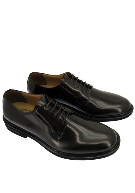 Men's Shoes Lace-up in Semi-matt Brown Leather with Extralight Rubber Sole Rogal's | Lace up shoes | HOL 6013