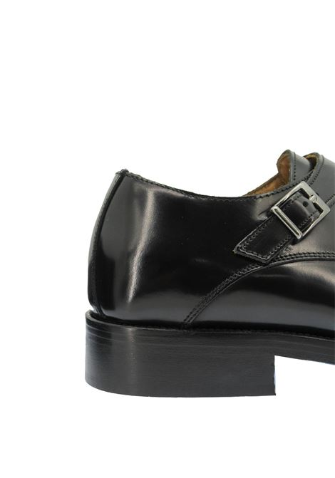 Men's Shoes Loafer's in Glossy Black Leather Double Buckle and Leather Sole Rogal's | Mocassins | KUOIO 3001