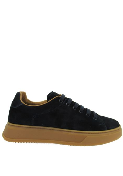 Men's Shoes Lace-up Sneakers in Blue Suede with High Honey Sole Rogal's | Sneakers | LEP1002