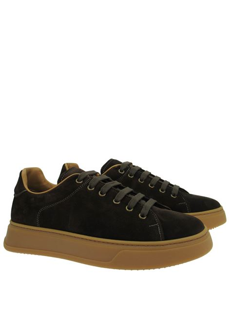 Men's Shoes Lace-up Sneakers in Brown Suede with High Honey Sole Rogal's | Sneakers | LEP1013