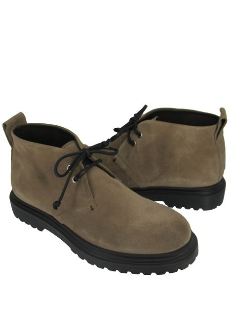 Men's Shoes Lace-up Ankle Boots in Taupe Suede with Rubber Tank Sole Rogal's | Ankle Boots | MAR 14023
