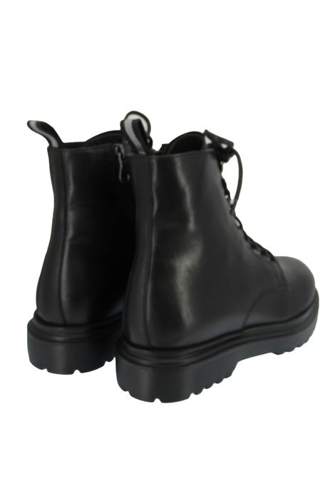 Men's Shoes Lace-up Amphibious Ankle Boots in Black Leather with Tank Sole Rogal's | Ankle Boots | MAR 16001