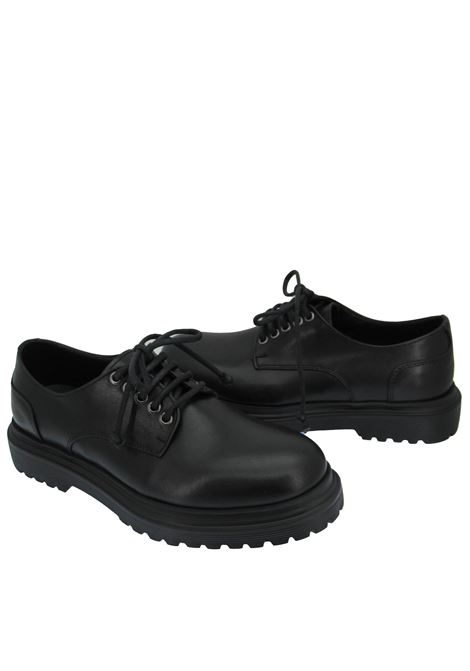 Men's Shoes Lace-up in Black Leather with Rubber Sole Rogal's | Lace up shoes | MARIS001