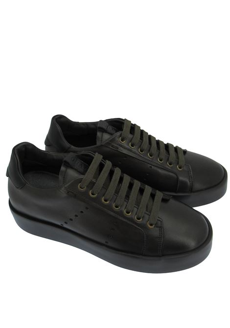 Men's Shoes Sneakers in Brown Leather with Matching Rubber Sole Rogal's | Sneakers | VEL1014