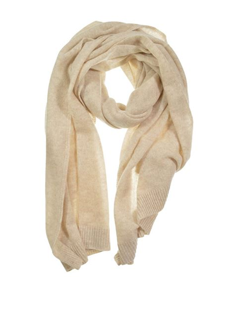 Accessori Donna Sciarpa in Puro Cachemire Sabbia Seeberger Est 1890 | Sciarpe e foulard | 0167080094