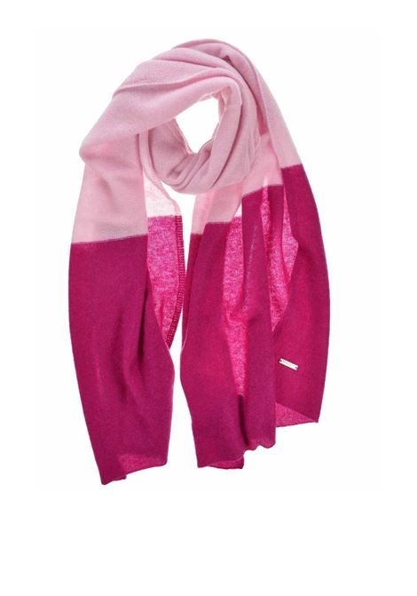 Accessori Donna Sciarpa in Puro Cachemire Bicolore Rosa e Prugna Seeberger Est 1890 | Sciarpe e foulard | 0182162627