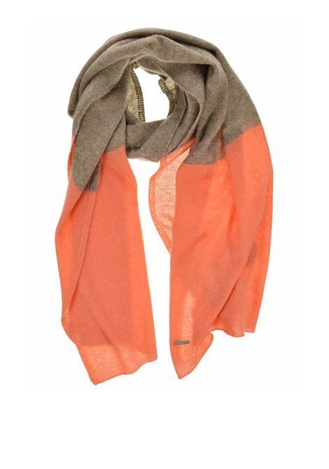 Accessori Donna Sciarpa in Puro Cachemire Bicolore Taupe e Mattone Seeberger Est 1890 | Sciarpe e foulard | 0182163787