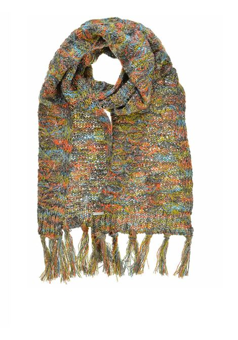 Women's Accessories Scarf Knit in Colorful Yarn Anthracite Grey and Aqua Green Seeberger Est 1890 | Scarves and foulards | 0186631158