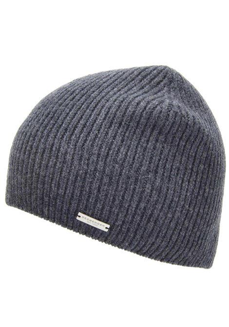 Unisex's Accessories Hat Knit Beanie in Anthracite Grey Pure Merino Wool  Seeberger Est 1890 |  | 0704840011