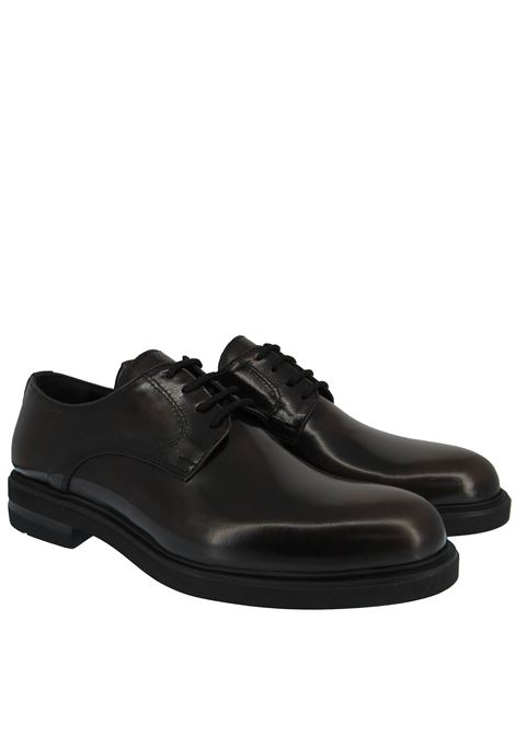 Men's Shoes Lace-up in Brown Leather Round Toe and Ultra Light Rubber Sole Spatarella | Lace up shoes | 020013