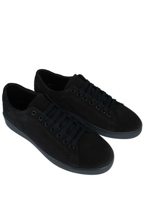 Calzature Uomo Sneakers in Camoscio Blu con Fondo in Gomma Spatarella | Sneakers | 2011002