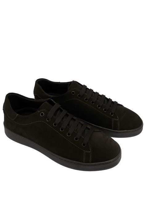 Men's Shoes Sneakers in Brown Suede with Rubber Sole Spatarella | Sneakers | 2011014