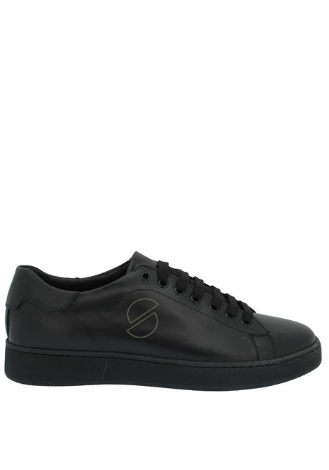 Men's Shoes Sneakers in Black Leather with Rubber Sole Spatarella | Sneakers | 2011P001