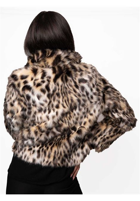Women's Clothing Jacket in Animalier Leopard Print Eco-fur and Black Lining with Long Sleeves  Spatarella | Coats and jackets | SP61210500