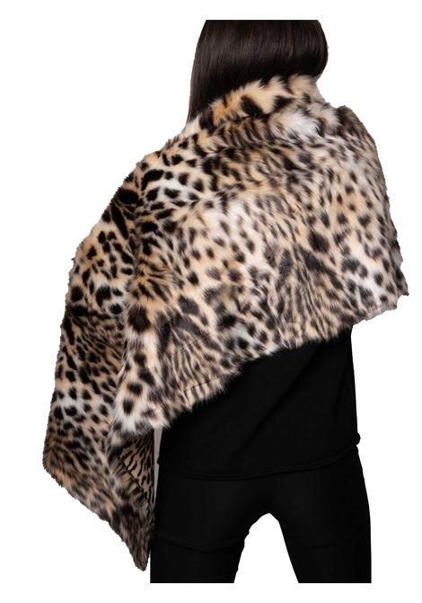 Accessori Donna Scialle  in Pelliccia Ecologica Animalier Leopardato e Fodera Nera Spatarella | Sciarpe e foulard | SP61211500