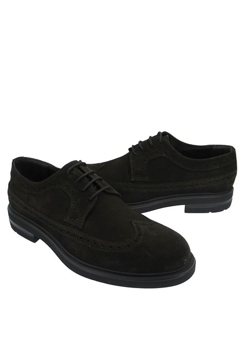 Men's Shoes Lace-up in Brown Suede with Stitching and Ultra-light Rubber Sole Spatarella | Lace up shoes | SP860C013