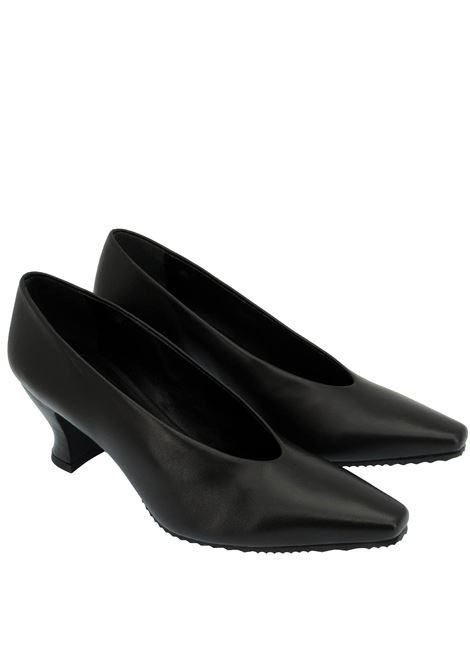 Women's Shoes Pumps Decolleté in Black Leather with Matching Leather Heel  Spatarella | Pumps | SR 11001